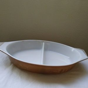 Pyrex Early American 1 1/2 Quart Divided Casserole